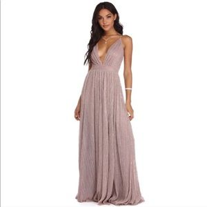 Haley Formal Windsor Bridesmaid Rose Shimmer Gown